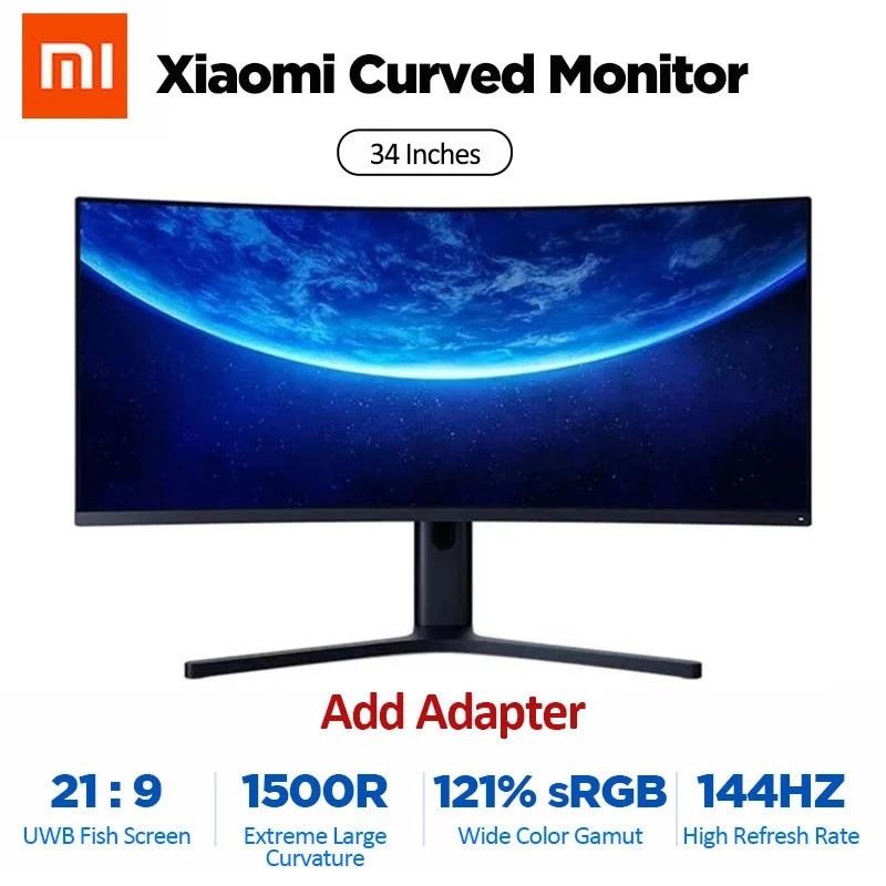 XIAOMI-curvo-Gaming-Monitor-34-pollici-3440-1440-WQHD-1-1-porta-schermo-di-pesce-144Hz Offerta Monitor Gaming Curvo Xiaomi 34 - 144Hz a 389€