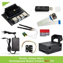 Nvidia jetson nano desenvolvedor kit b01 versão pequeno poderoso computador para desenvolvimento de ia + caso + adaptador de energia/cartão sd/câmera/wifi