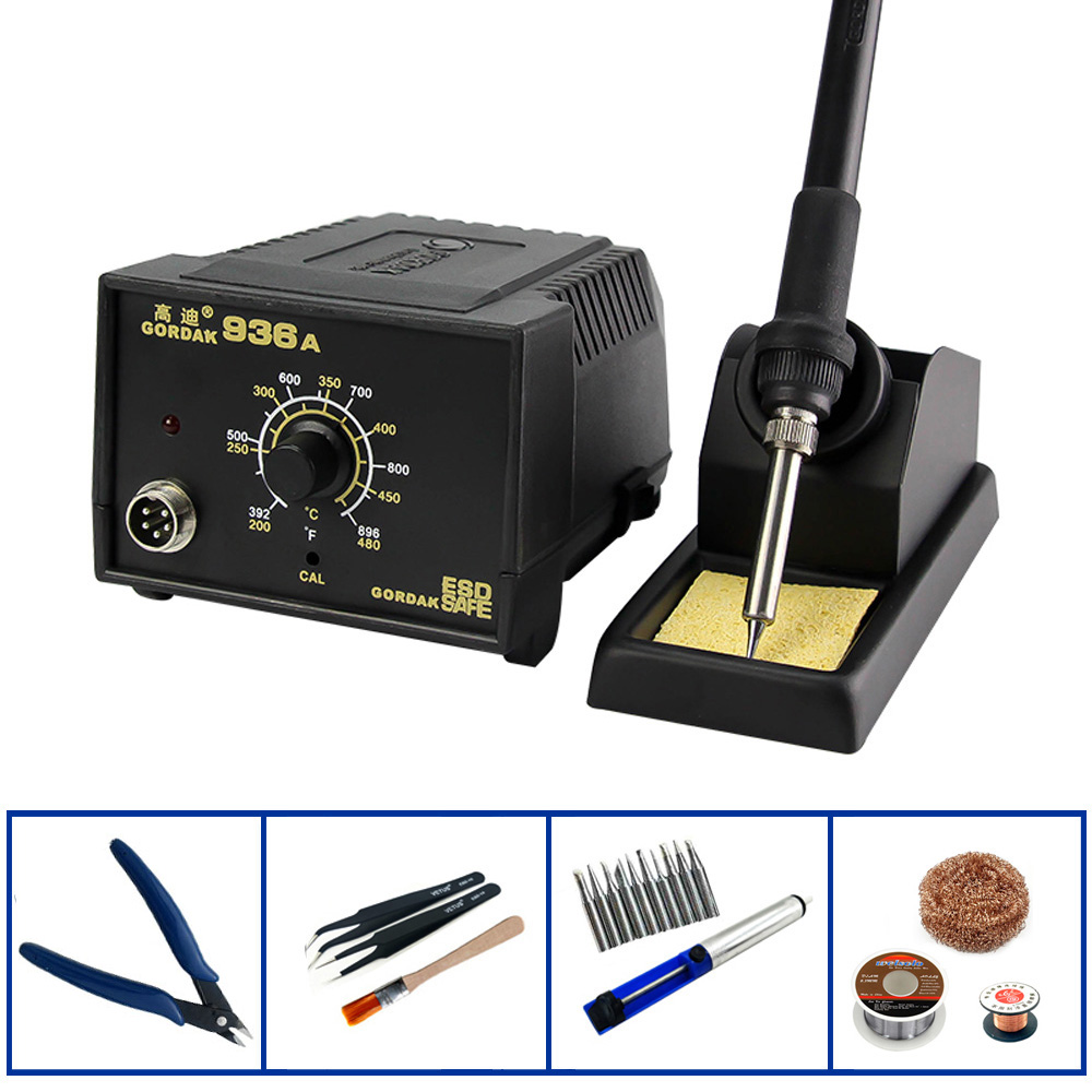 GORDAK <font><b>936A</b></font> Anti-Static Constant Temperature Electricity Soldering Iron Mobile Phone Repair Welding Machine SMD Rework Station image
