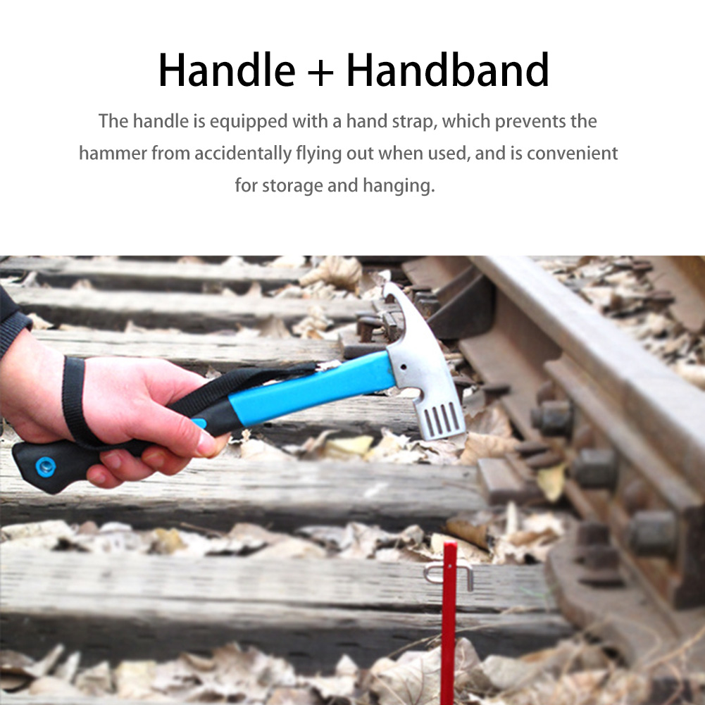 Outdoor Hiking Camping Tent Ceiling Ground Nailing Multi functional Tools Safety Camping Hammer Nailing Device Accessories|Outdoor Tools| |  -