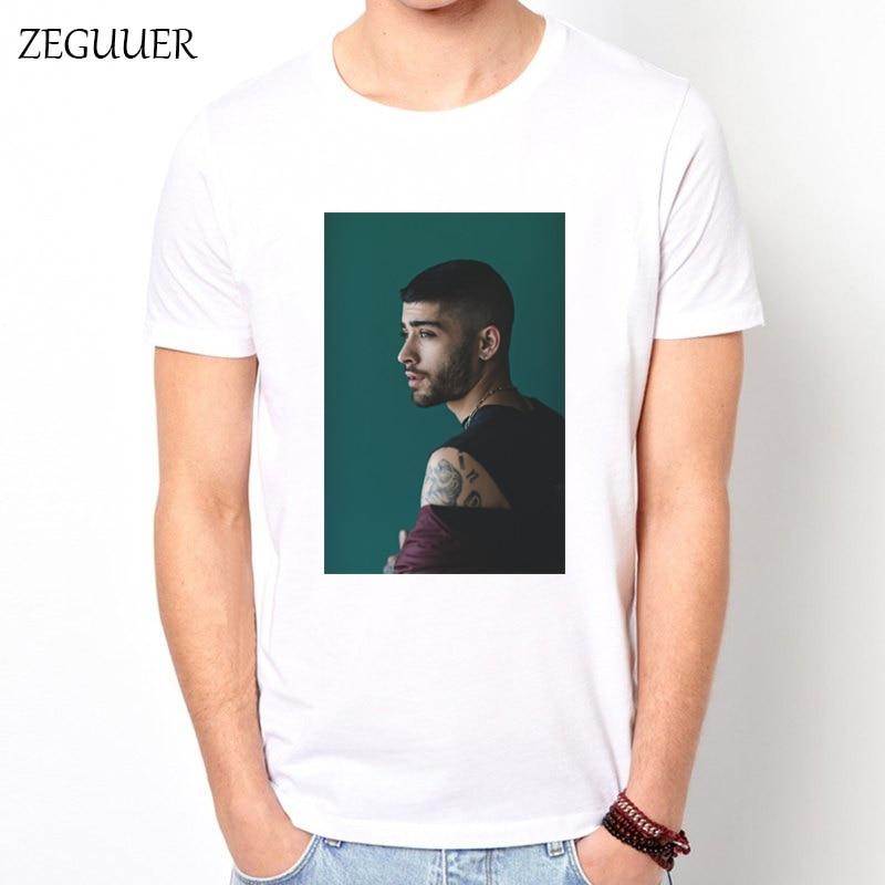 Zayn Malik Tshirt 2019 New Hip Hop Singer Interesting Harajuku Fashion Printing Streetwear Men Tshirt Unisex Boyfriend Gift