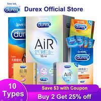 Durex XXL condón de talla grande condones ultradelgados productos sexuales goma Natural pene manga condones sexo para los hombres