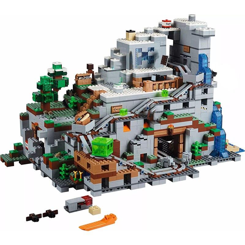 Minecraft Meine Welt Serie Der Berg Cave Spiel Ziegel 2932Pcs DIY Bausteine Kompatibel Mit Spielzeug Für Kinder Geschenke sets-in Sperren aus Spielzeug und Hobbys bei  Gruppe 1