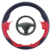 DIY Black Leather Hand stitched Car Steering Wheel Cover for Volkswagen Old VW Golf Polo Sagitar Lavida 2010 Polo
