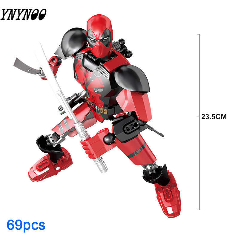 Супергерои Legoinglys Marvel Мстители Бесконечность война Железный человек танос Тор Черная пантера Человек-паук Дэдпул строительные блоки игрушка