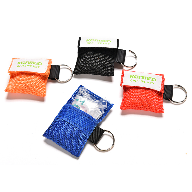 Optional Color CPR Resuscitator Mask Keychain First Aid Emergency Face Shield CPR Mask Health Care Tools Hot
