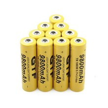 Original 3.7V 18650 9800mAh Li-ion battery Rechargeable Lithium Batteries for flashlight headlamp electronic toy drop shipping(China)