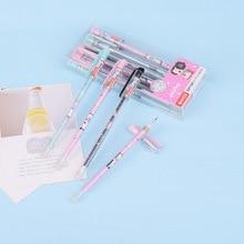 Kawaii Office Stationery-Supplies Erasable-Gel-Pen Refill Black-Ink School Cute 1pcs