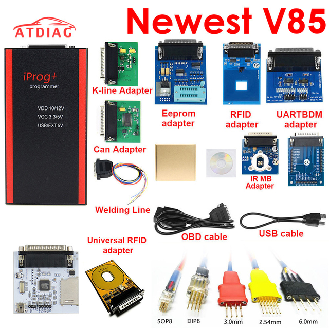 Best Quality V85 Iprog+ Key Programmer Support IMMO + Mileage Correction + Airbag Reset Iprog Pro Till 2019 Replace Carprog