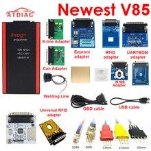 Beste Qualität V85 Iprog + Schlüssel Programmierer Unterstützung IMMO + Laufleistung Korrektur + Airbag Reset Iprog Pro Bis 2019 Ersetzen carprog