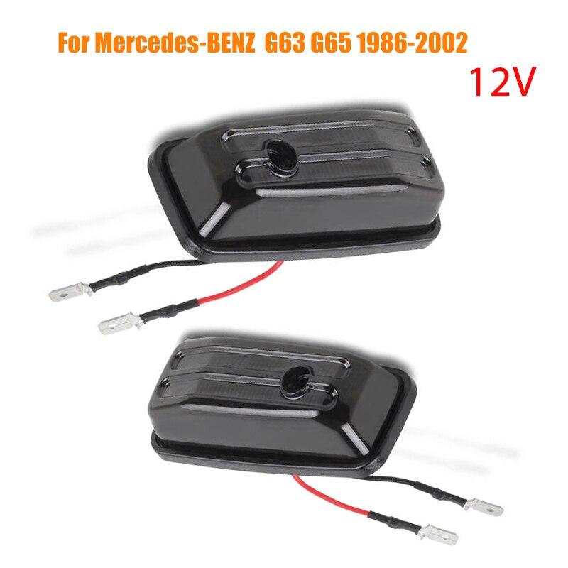 2X 12v динамический Светодиодный Боковой габаритный мигалка ретранслятор сигнала поворота светильник для Mercedes-Benz g-класс W463 W461 G500 G550 G55 G63 G65