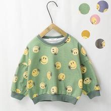Новая футболка с принтом для мальчиков и девочек, Весенняя хлопковая модная детская толстовка, 3-8 лет, HJ364
