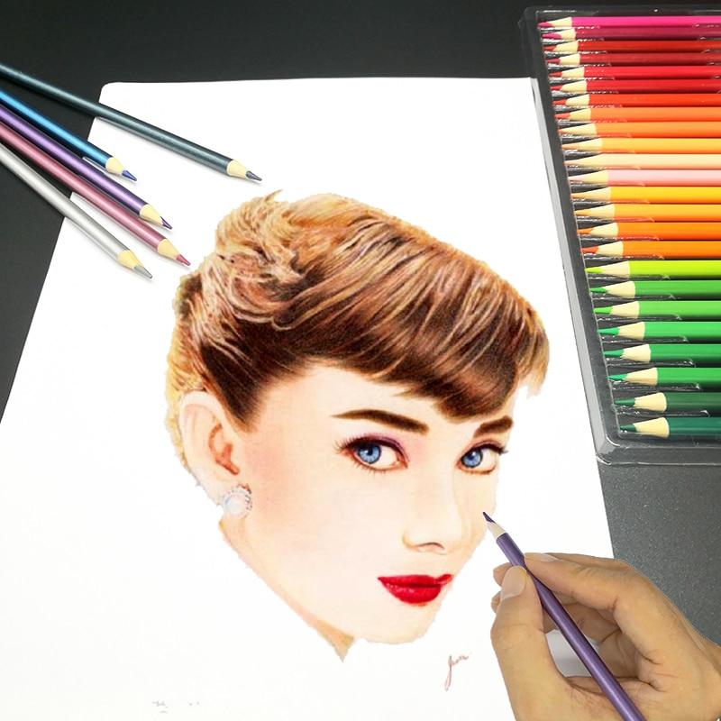 CHENYU 150 Colored Pencils Water Prismacolor Lapis de cor 48