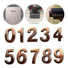 лучшая цена 0-9 modern plaque number house hotel door address digital sticker board sign paper self-adhesive door waterproof