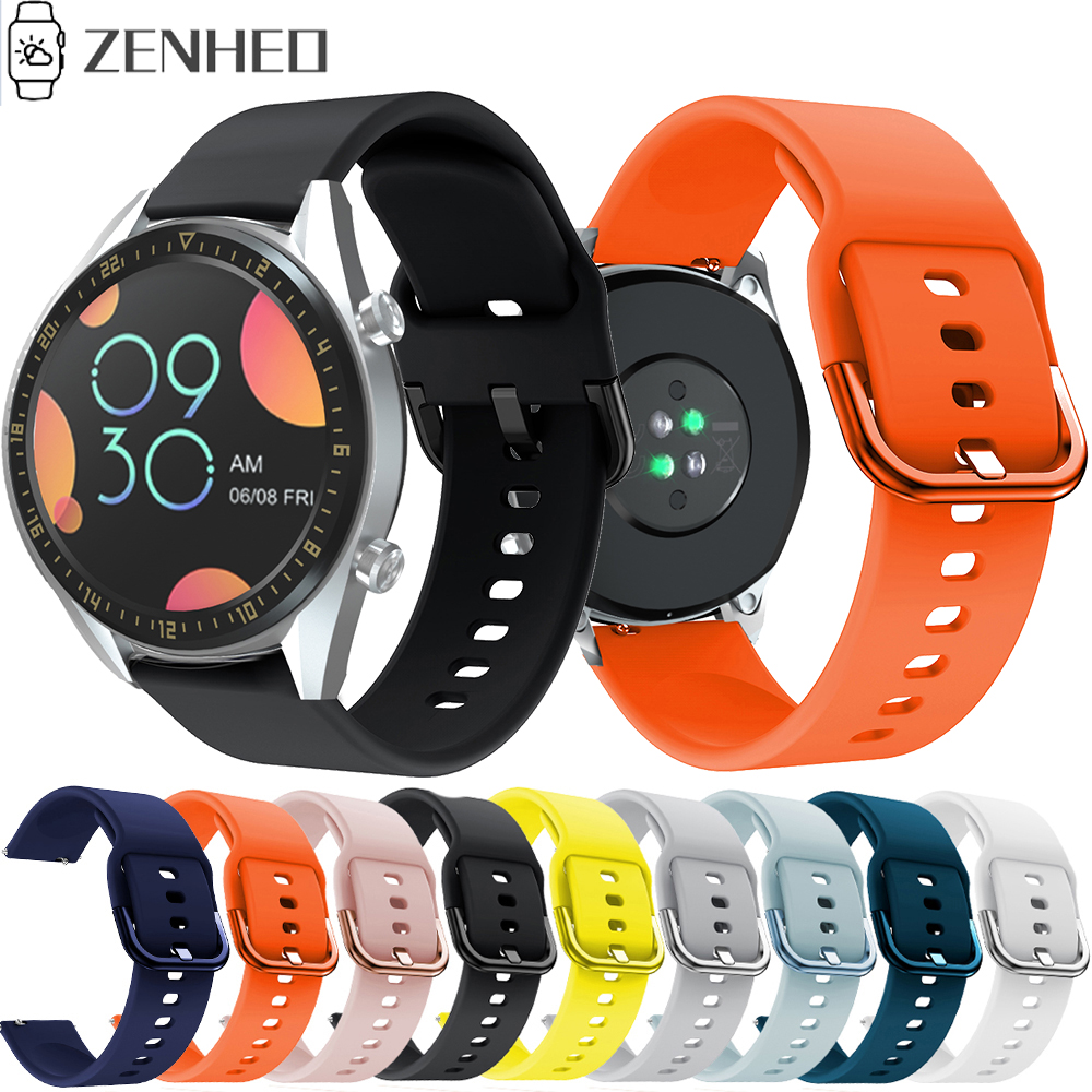 Silicone Watchband 22mm Watch Strap For Huawei Watch GT GT2 Sport Smart Wristband For Samsung Gear S3 Belt Band