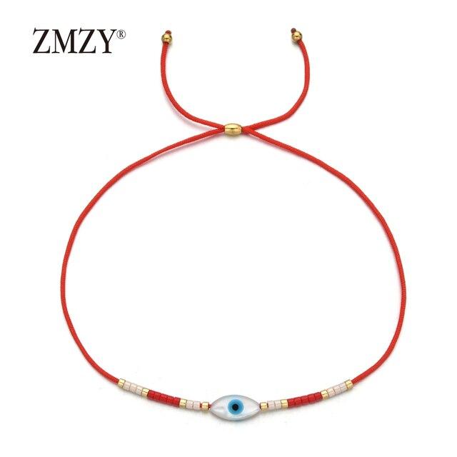 ZMZY-Bracelet à corde bohème, œil maléfique turc, bijoux, cadeau de fête, pour les perles MIYUKI, Bracelets pour femme