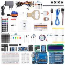 Полный стартовый набор для Arduino UNO R3 Mega2560 Nano, с учебным пособием, источником питания, шаговым двигателем