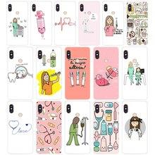 318FG Cartoon Medicine Nurse Doctor Dentist Soft Silicone Tpu Cover phone Case