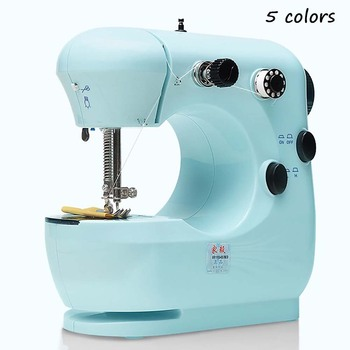 Sewing Machine Foot Mini Manual Portable Speed Adjustment 2 Speed Embroidery Stitching Heavy Duty For Beginners Electric Light
