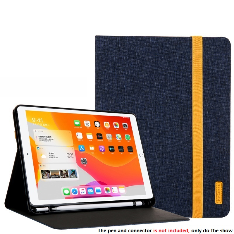 Dark Blue Red Smart Sleep Wake UP Case For iPad 10 2 7 th Generation 2019 Cover A2200 A2198