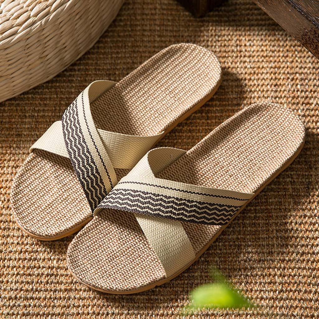 Linen Slippers Couple Soft Unisex New Men Summer