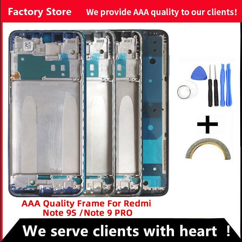 Качественная средняя рамка AAA для Xiaomi Redmi Note 9S средняя рамка Корпус крышка для XIAOMI Redmi Note 9 PRO металлическая рамка