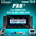 магнитола 2 din андроид 2 din Android 10 автомагнитола радио PX6 для BMW E39 E53 X5 M5 1999-2006 мультимедийное автомобильное стерео авто аудио экран навигация GPS ...