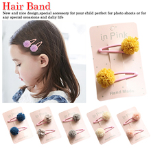 2Pc/Set Haarspeldjes Barettes Fille Enfant Baby Hair Accessories Cute Lace Pom Clips Kids Girl Hairpin