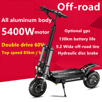 Free Shipping 11 Inch 60V5400W Electric Scooter High Speed Off Road Dual Drive Folding Electric Vehicle|Electric Scooters| |  -