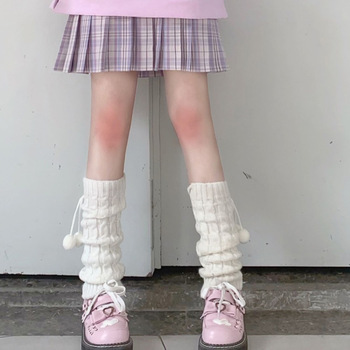 Women Knit Winter Leg Warmers Loose Style Lady Boot Knee High Boot Stockings Leggings Warm Boots Leg 1