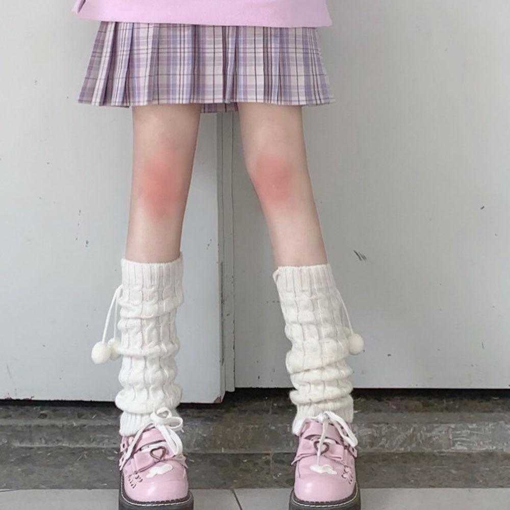 Women Knit Winter Leg Warmers Loose Style Lady Boot Knee High Boot Stockings Leggings Warm Boots Leg