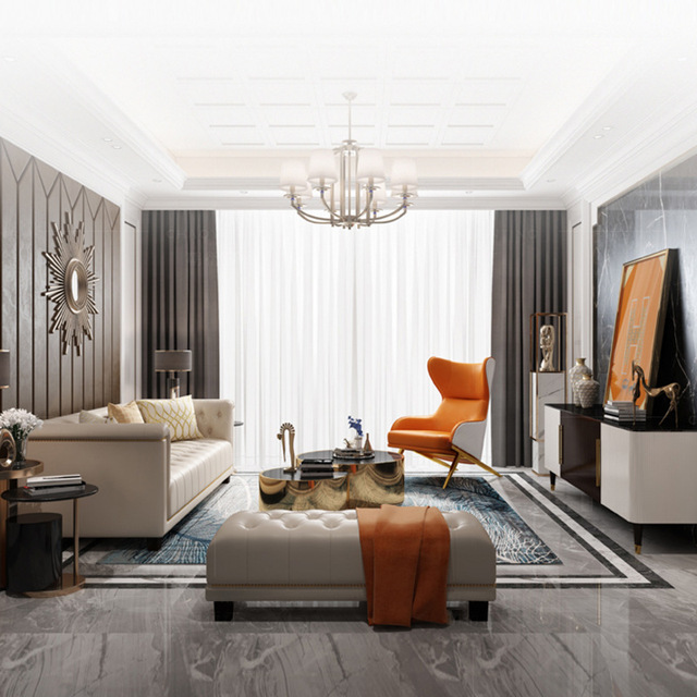 Leather Art Designer High Back Lounge Chair 3