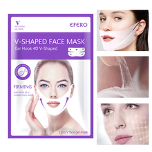 V Shape Lifting Face Mask Peel-off Slimming Chin Lift Up Masks Shaper Anti-wrinkle Hanging Ear Bandage Skin Care