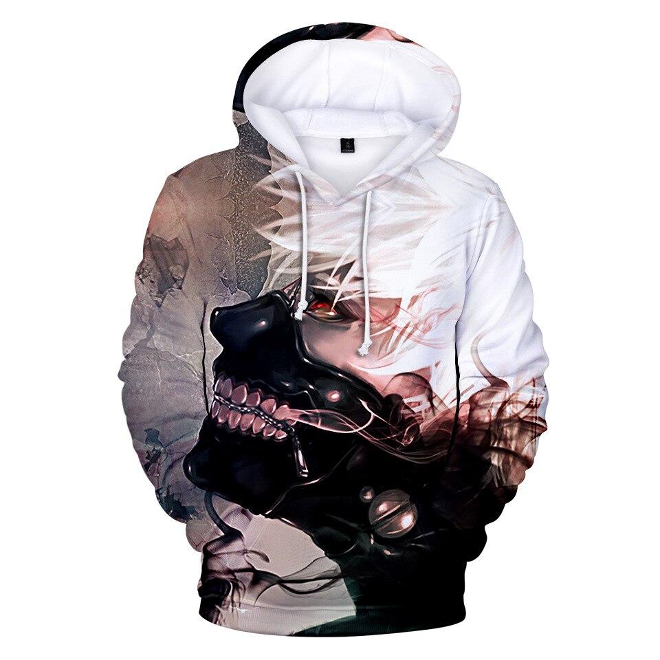 Japanese Hoodie Tokyo Ghoul Men Sweatshirt Women Clothes Harajuku Tracksuit hip hop Streetwear 3d Hoodies Men 2020