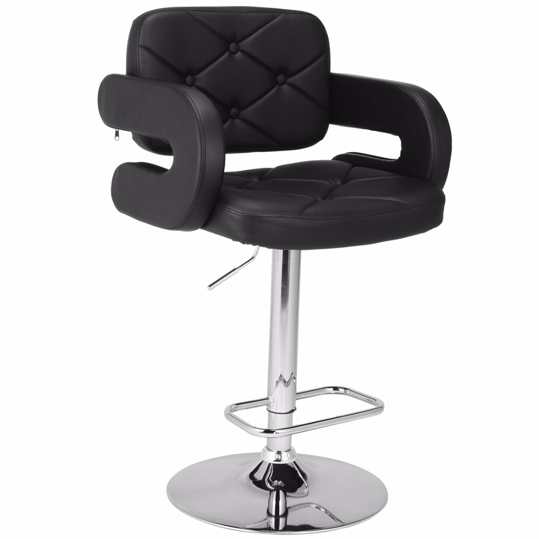 Simple Adjustable Barbershop Stool Beauty Salon Chair Styling Barber Hairdressing Hair Cutting Studio New Black White Gray