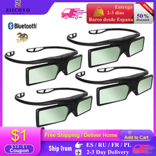 Bluetooth 3D Glasses Active Shutter Rechargeable Eyewear Compatible with Epson Projector/Sony Sharp Panasonic Samsung 3D TV
