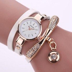 Retro Women Watch Leather Water Drop Pendant Bracelet Dial Analog Quartz Wrist Ladies Watch Women Watches Clock zegarek damski