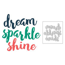 Новинка 2020 блестящие английские слова dream shine металлические