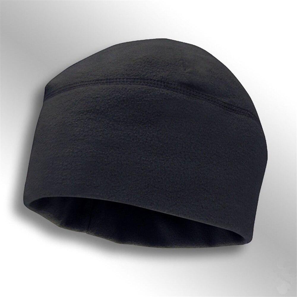Winter Outdoor Fashion Tactics Solid Color Cap Polar Fleece Caps Men Women Windproof Warm Hiking Mountaineering Hat