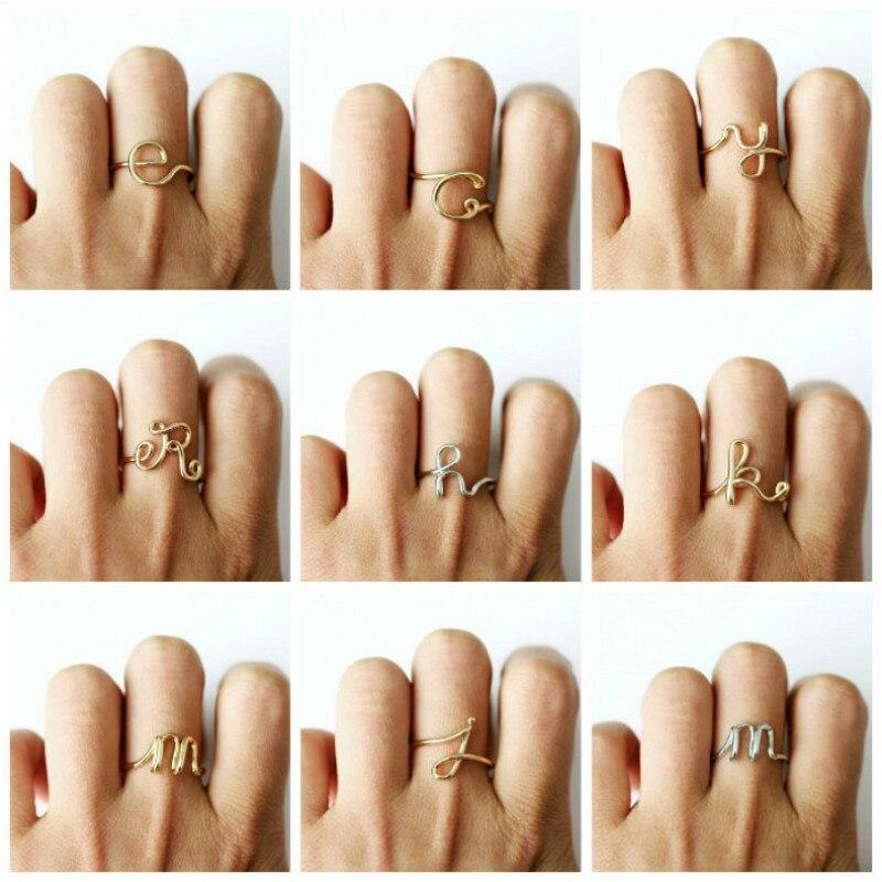 1 шт. Модные кольца с алфавитом из железной проволоки, вечерние украшения для девочек, вечерние украшения, вечерние подарки