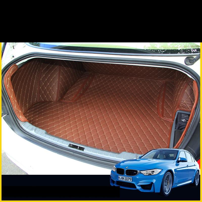 lsrtw2017 car trunk mat cargo liner for bmw 3 series 320i 316i 328i 316d 318D 330i 335i 2012 2013 2014 2015 2016 2017 2018