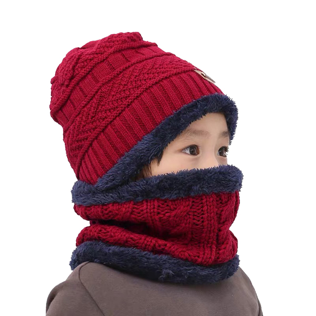 Boys Knitted Hat with Scarf 5