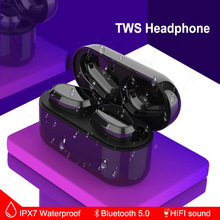 TWS Wireless Earphone Bluetooth Earbuds 5.0 Hifi Stereo Sound IPX7 Waterproof True Wireless Earbuds Mini Headsets bluetooth 5 0 earphones tws true wireless earphone headphones sports earbuds hifi bass stereo headsets with dual microphone