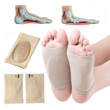 1pair Silicone Gel Arches Orthotic Arch Support Socks Orthopedic Insoles Foot Brace Flat Feet Relieve Pain Wholesale(China)