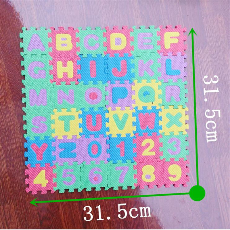 H2c97ed1b7a254bc283476032453fdc2cJ 36pcs Russian Alphabet Baby Toy Foam Puzzle Mat EVA Educational Play Mat Baby Crawling Mats Carpet  Early Teaching Floor Mats