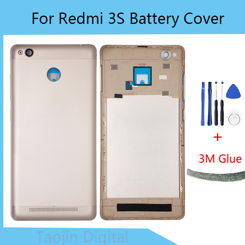 Replacement <font><b>Battery</b></font> Back <font><b>Cover</b></font> For Xiaomi <font><b>Redmi</b></font> <font><b>3S</b></font> Hard case Original Mobile Phone Rear Door Housings Free Tools image