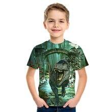 Summer Boy T Shirt Children T Shirt Baby T Shirt Children Short Sleeved Girl T Shirt 3D Printed Fun Animal Pattern