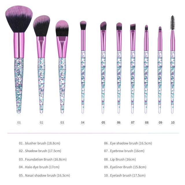 7/10 High quality Professional makeup brushes set cosmetic brush beauty tool kits for Foundation eyebrow powder lip eye shadow 5