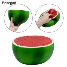 Besegad 24.5CM Big Kawaii Jumbo Squishy śliczne owoce arbuza wycisnąć Squishi Super powolne rosnąca zabawka dla łagodzi stres lęk