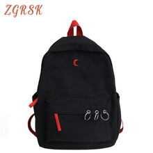 Female High Quality Canvas Backpack Bagpack Women Back Pack School Bags For Teenage Girl Backpacks Bookbag